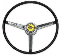Chevelle Steering Wheel, 3-Spoke, Deluxe, Super Sport (SS),Black, 1967