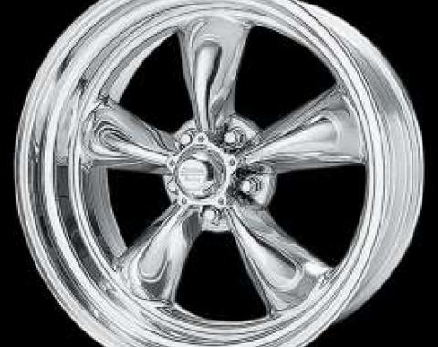 Chevelle Torq-Thrust II Wheel, Polished, 16 x 7, American Racing, 1964-1972