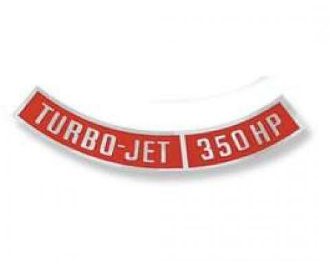 Chevelle Air Cleaner Decal, Turbo-Jet 350 hp, 1966-1970