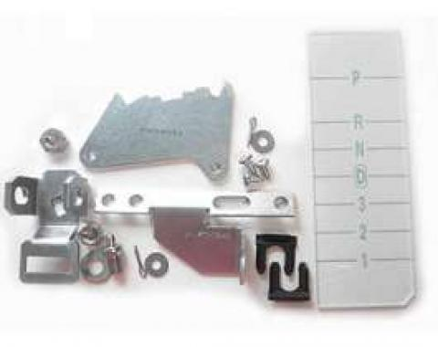 Chevelle Shifter Conversion Kit, Powerglide To 700R4, 200-4R Or 4L60 Transmission, 1969-1970