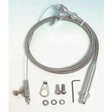 Chevelle Kick down Cable Kit, Automatic Transmission, Turbo Hydra-Matic TH350, Hi-Tech, Lokar, 1964-1972
