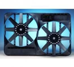 Chevelle Engine Cooling Fan, Electric, Universal, Dual, 4600 CFM, Flex-a-lite, 1964-1972