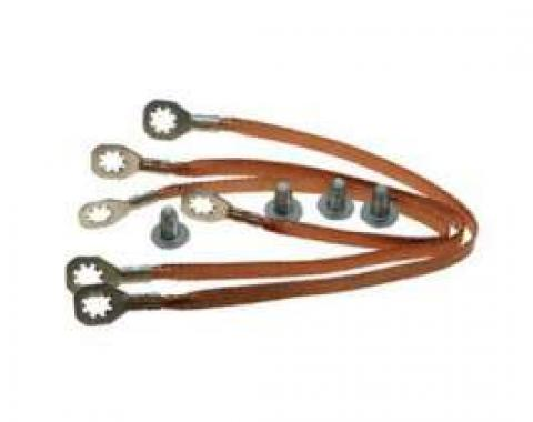 Chevelle Ground Wire Strap Kit, Small Or Big Block, 1969-1972
