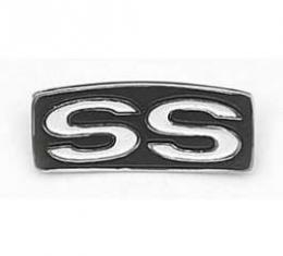 Chevelle Steering Wheel Shroud Emblem, Super Sport (SS), 1969