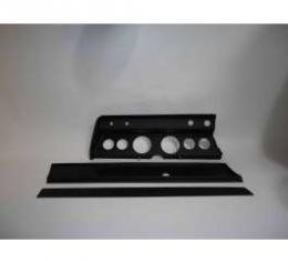 Chevelle Instrument Cluster Panel, Black Finish, With Pre-Cut Holes, 1967