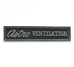 Chevelle Dashboard Emblem, Astro Ventilation, 1969