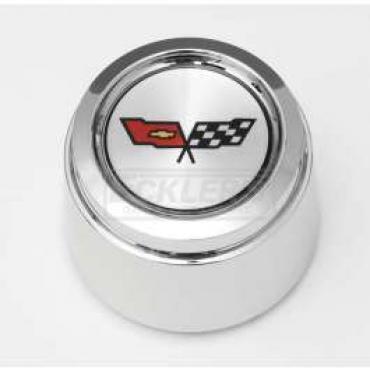Chevelle 1982 Corvette Style Chrome Center Wheel Cap, For Corvette Style Aluminum Wheels