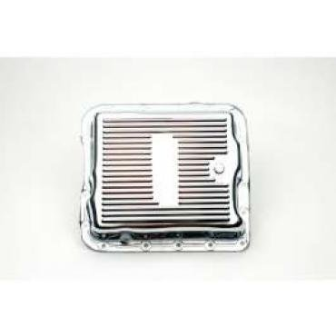 Chevelle Automatic Transmission Oil Pan, Turbo-Hydramatic 700R4, Chrome, 1964-1972