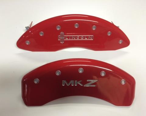 OPEN BOX Red Caliper Covers for Lincoln Mks Lincoln Front MKZ Rear SILVER