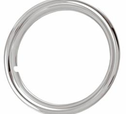 "Rally Wheel Trim Ring Set, 15"" Wheel, 1 3/4"" Deep, Chrome Plated Steel"