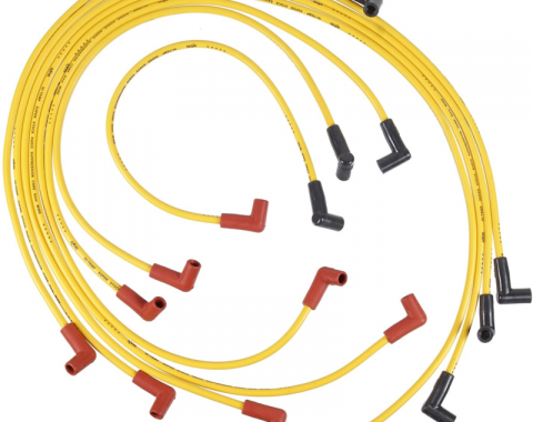 Corvette Spark Plug Wires, Small Block, Accel Superstock Yellow Wire, 1976-1982