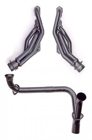 Chevy Truck Gmc Black Shorty Headers Y Pipe Small Block