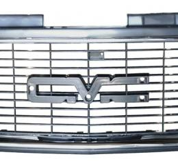 Key Parts '94-'98 GMC Grille for Composite Headlights Black (Paint to Match) with Chrome Trim 0853-044