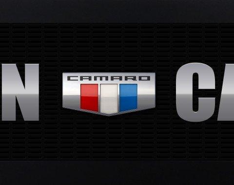 Camaro Six Badge Framed Man Cave