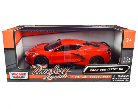 Motormax Timeless Legends 2020 C8 Corvette 1/24 Diecast | Red