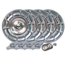 Corvette Hubcaps With Spinners, 4 Piece, 1956-1958
