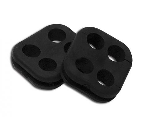Corvette Spark Plug Wire Grommets, Square, Set of 2, 1965-1979