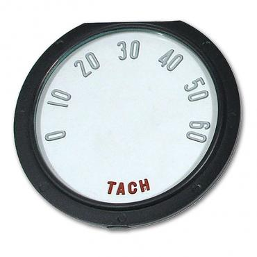 Corvette Tachometer Face, with Numbers, 6000 RPM, 1955-1957