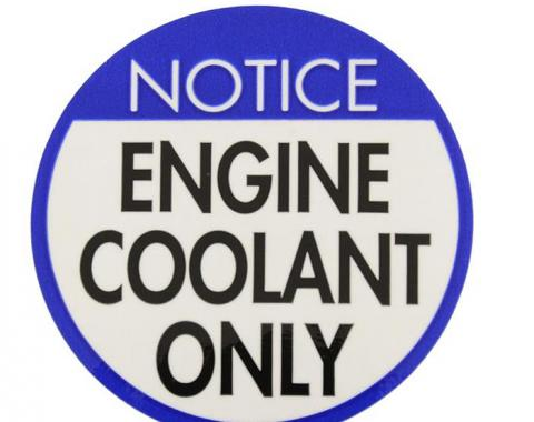 Corvette Decal, Coolant Warning, 1978-1981