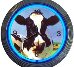 Neonetics Neon Clocks, Cow Neon Clock