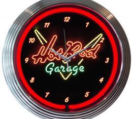 Neonetics Neon Clocks, Hot Rod Garage Neon Clock