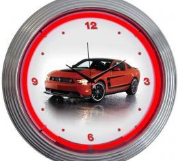 Neonetics Neon Clocks, Ford Mustang Boss 302 Neon Clock