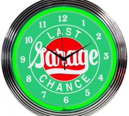 Neonetics Neon Clocks, Last Chance Garage Neon Clock