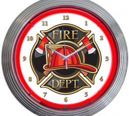 Neonetics Neon Clocks, Fire Department Neon Clock