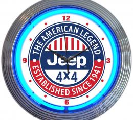 Neonetics Neon Clocks, Jeep the American Legend Neon Clock