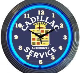 Neonetics Neon Clocks, Cadillac Service Neon Clock