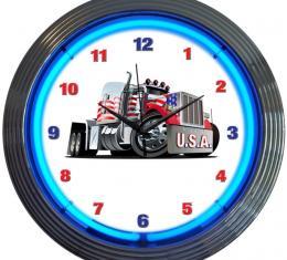 Neonetics Neon Clocks, Big Rig Truck Neon Clock