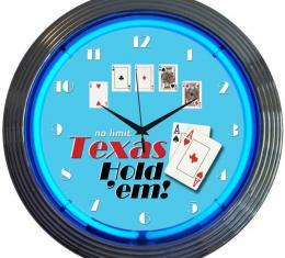 Neonetics Neon Clocks, Poker Texas Hold 'Em Neon Clock