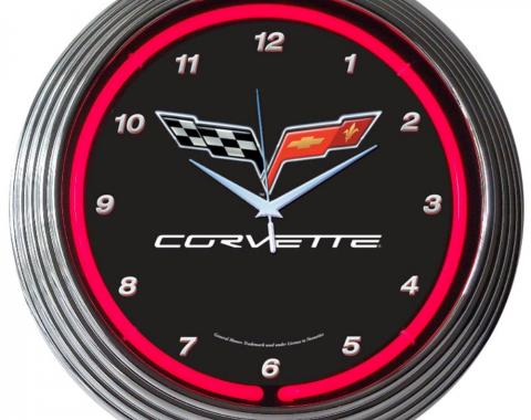 Neonetics Neon Clocks, Corvette C6 Neon Clock