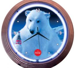 Neonetics Neon Clocks, Coca-Cola Polar Bear Neon Clock
