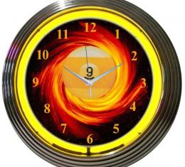 Neonetics Neon Clocks, 9 Ball Fire Neon Clock