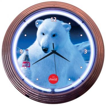 Neonetics Neon Clocks, Coca-Cola Polar Bear Neon Clock