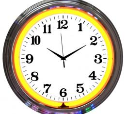 Neonetics Neon Clocks, Chrome Orange Standard Neon Clock