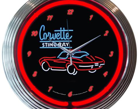 Neonetics Neon Clocks, Corvette Sr Neon Clock