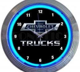 Neonetics Neon Clocks, Chevy Trucks 100th Anniversary Neon Clock