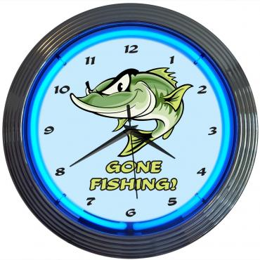 Neonetics Neon Clocks, Gone Fishing Neon Clock