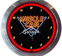 Neonetics Neon Clocks, Muscle Car Garage Neon Clock