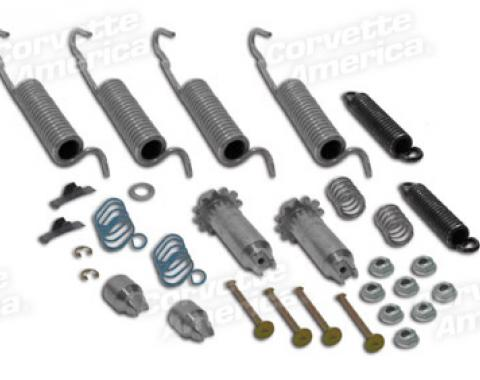 Corvette Brake Hardware Kit, Rear, 1953-1962