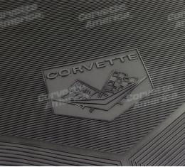 Corvette Rubber Mats, Black, 1961