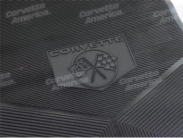 Corvette Rubber Mats, Black, 1962