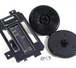 Corvette Heater/Ac Control Faceplate Kit, Air Conditioning, 1968