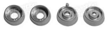 Corvette Knob Spacers, Rad/Htr without Air Conditioning 4 Piece, 1964-1965