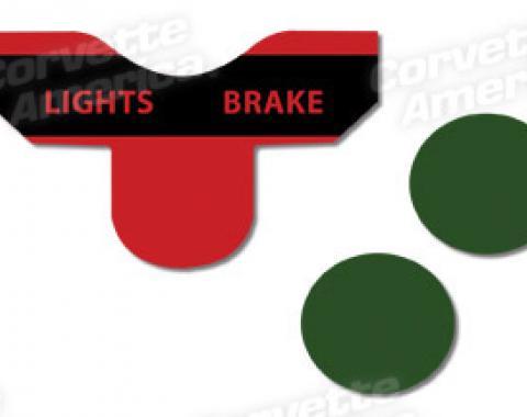 Corvette Lenses, Turn Signal/Brake 3 Piece Set, 1963-1967