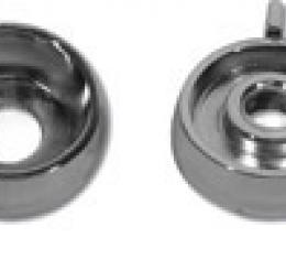 Corvette Knob Spacers, Rad/Htr without Air Conditioning 4 Piece, 1966-1967