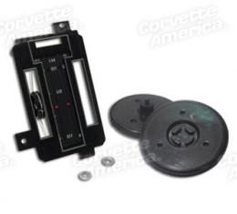 Corvette Heater Control Faceplate Kit, 1972-1975