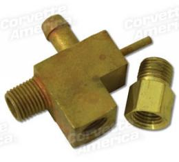 Corvette PCV Valve Fitting, on Carb with Power Brakes,Ac, 1963